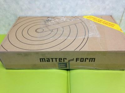 カナダ製の折りたたみ式3Dスキャナ、Matter and Form Scanner が届いたよ!
