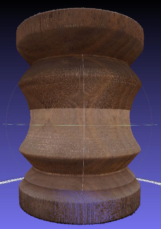 カナダ製の折りたたみ式3Dスキャナ、Matter and Form Scanner のスキャン結果