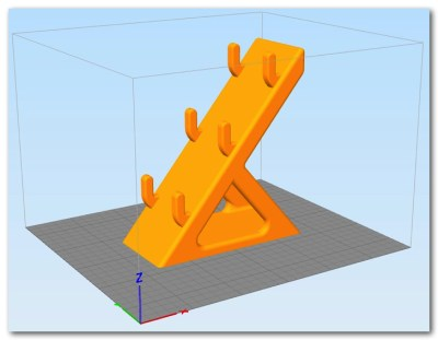 BS01 造形物(PLA):三段メガネホルダー