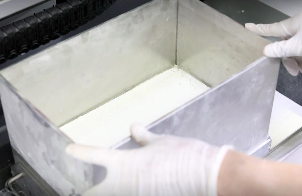 binder jetting 3d drucker mobile build tray