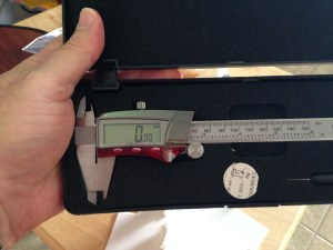 Electronic caliper in the handy case it comes in