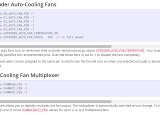 configure fans in marlin