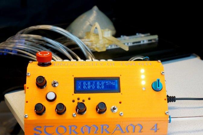 The Stormram 4 pneumatic control system. Photo via the University of Twente