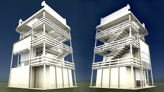 Tower-House Design Blender Game Engine (4)