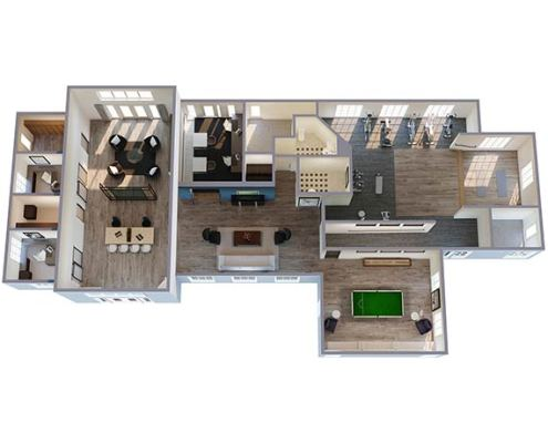Residential 3D Floor Plan Breckenridge in Portland Oregon (small version)