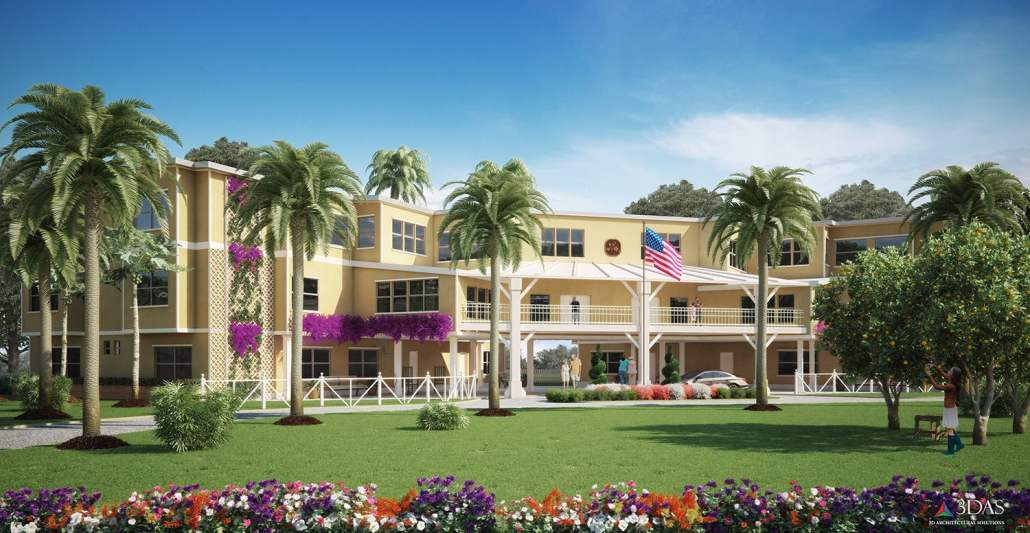 Autumn Blossoms Assisted Living Facility 3D Concept Naples Florida