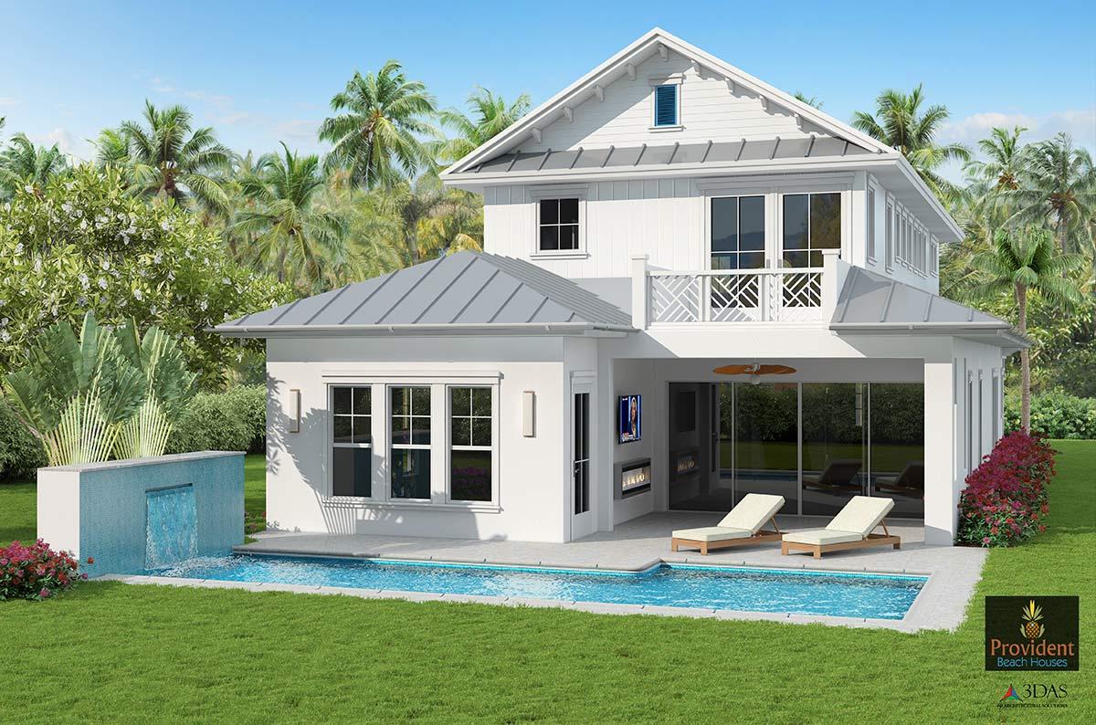 Naples 3D Beach Home - Rear View (in Naples, Florida)