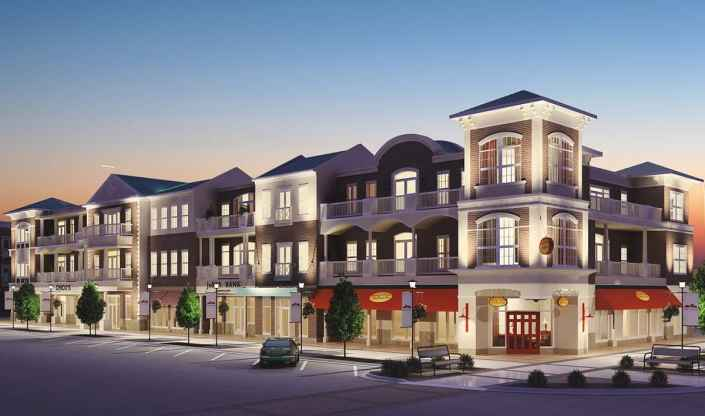 3D Night Render Preston Lake Retail and Residence