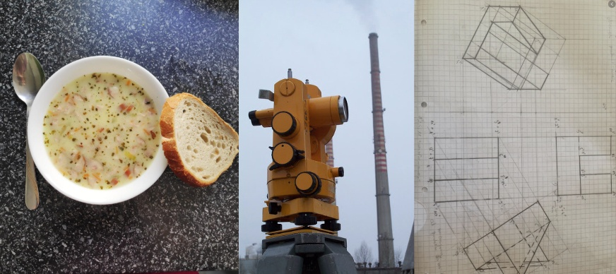 What Żurek, optical theodolite and descriptive geometry have in common?