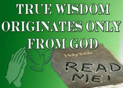 James 3:13 True Wisdom Originates only from God