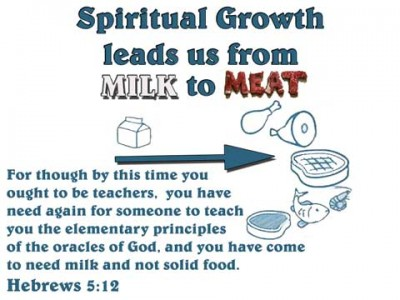 Spiritual Growth leads us from Milk to Meat