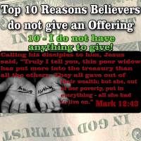 TOP 10 Reasons People do not give Offering – #10 – I don't have anything to Give