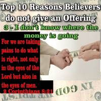 Top Reasons People do not give Offerings – 3 – I don't know where the money is going