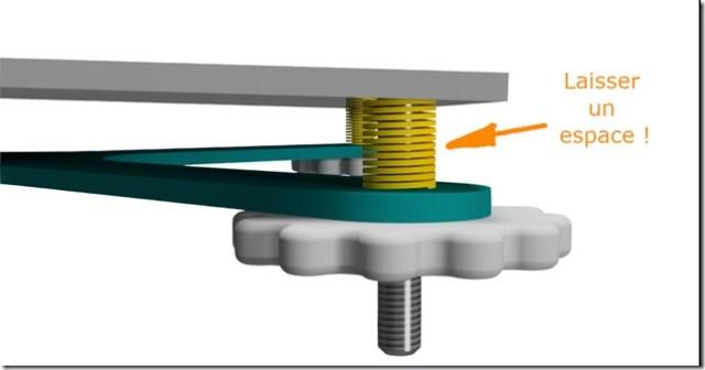 Ressort imprimante 3D laisser un espace