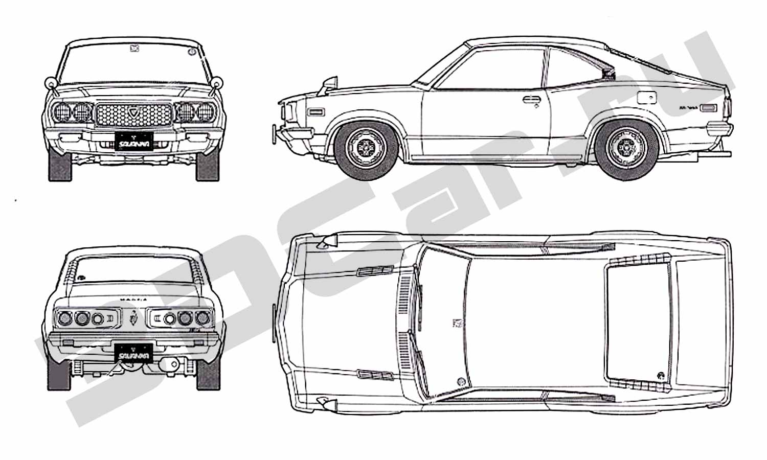 Blueprints Mazda Rx3 Savanna Gt 3dcar