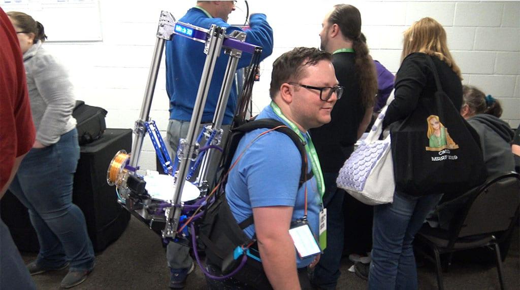Backpack Delta 3D Printer