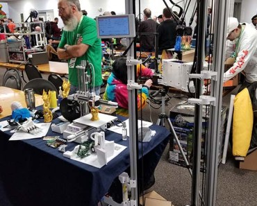 Core3D Tech tall delta 3d printer at mrrf 2019
