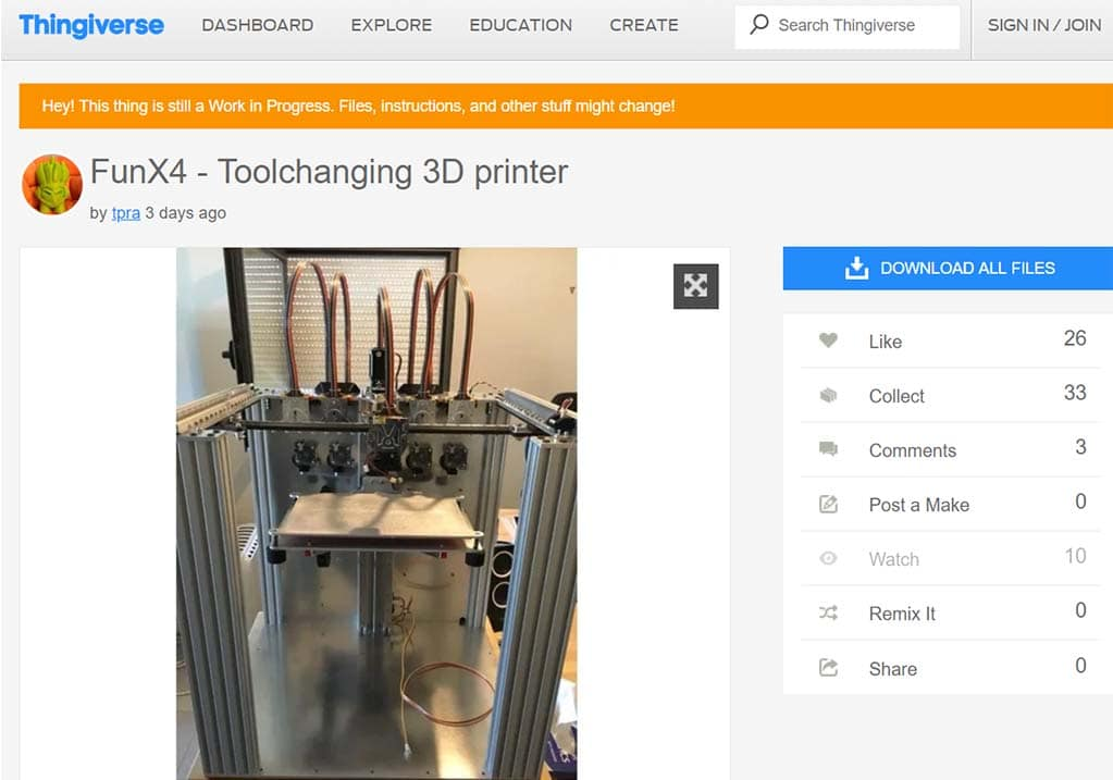 e3d tool changer clone design open source thingiverse