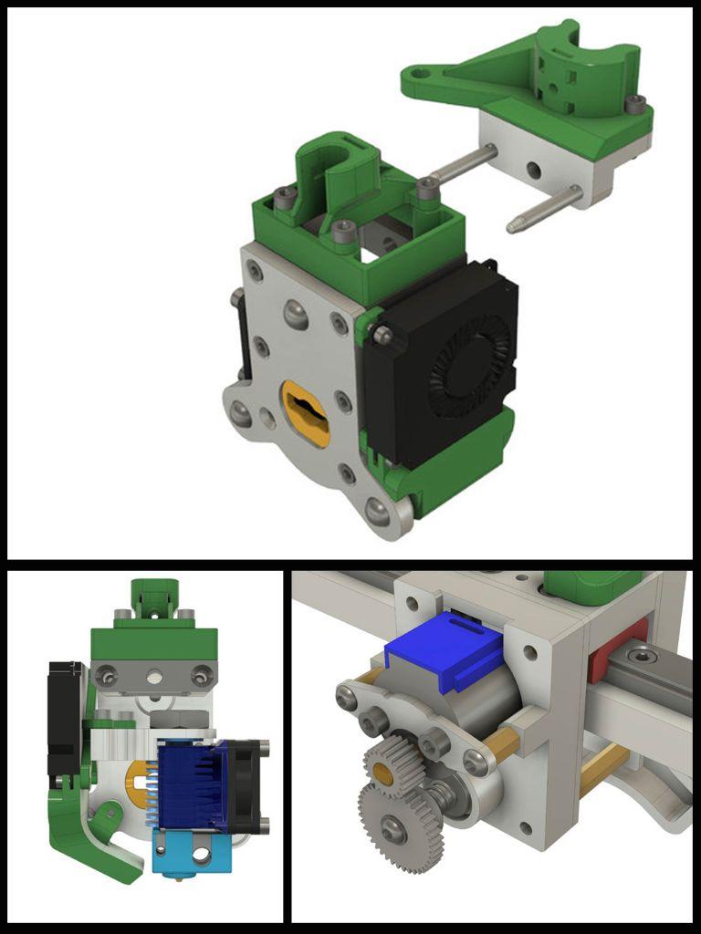E3D Tool Changer CAD Assembled