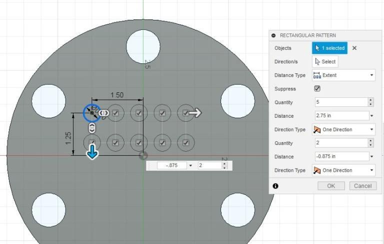 Fusion 360 Tutorial-Circular Pattern-Rectangular Pattern 17