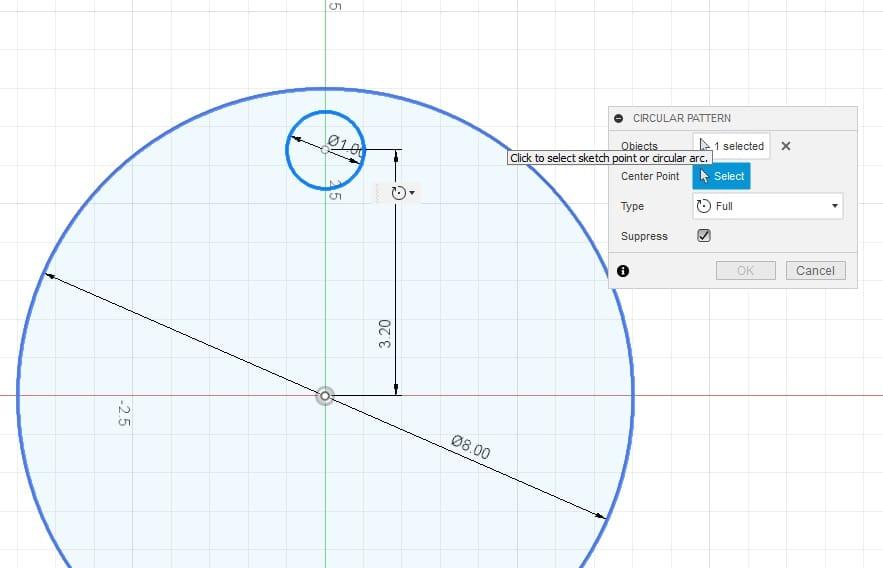 Fusion 360 Tutorial-Circular Pattern-Rectangular Pattern 5