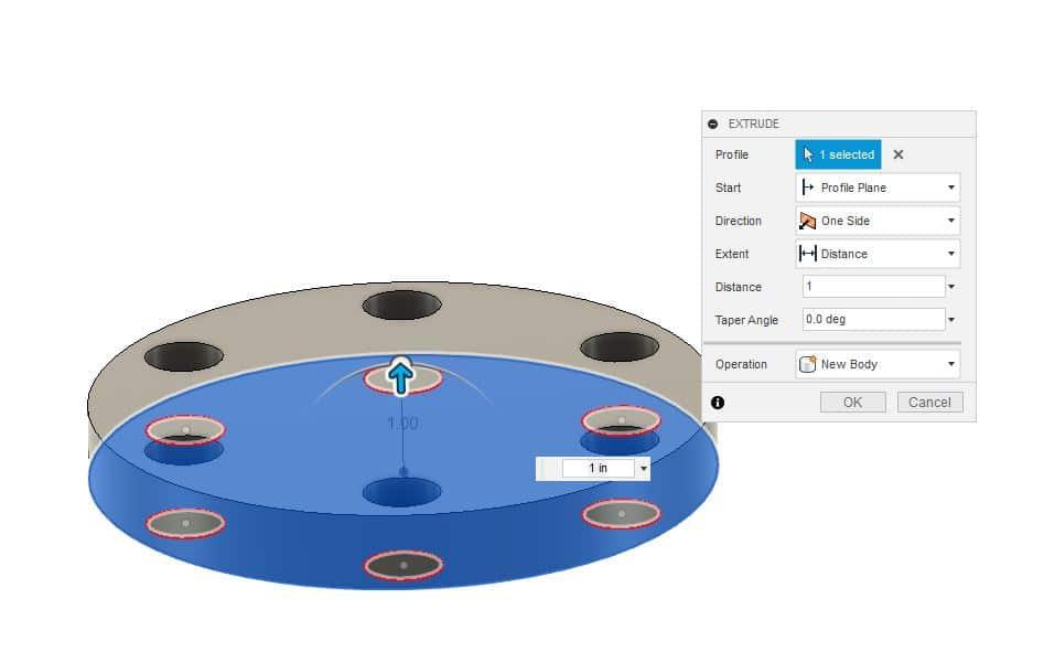 Fusion 360 Tutorial-Circular Pattern-Rectangular Pattern 8