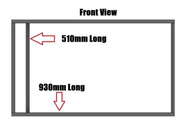 WorkHorse 3D Printer Frame Diagram