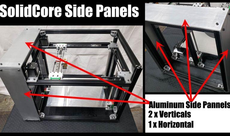 SolidCore Side Panels Part List Diagram