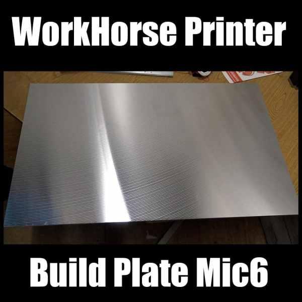 WorkHorse Printer Build Plate