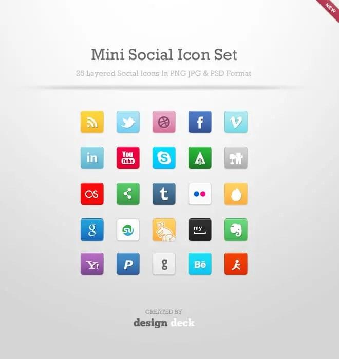 25 iconos sociales gratis