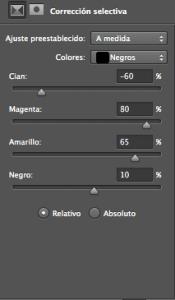 Tonos color escala de grises 9