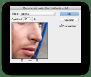 Tintype opciones de fusión