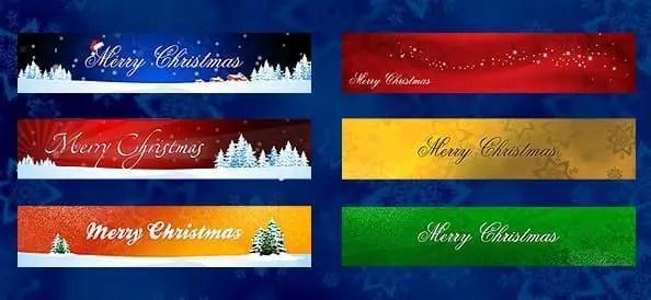 Banners navideños Photoshop