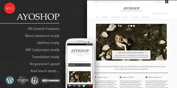 Ayoshop, tema wordpress gratuito para eCommerce - 3dearte Studio