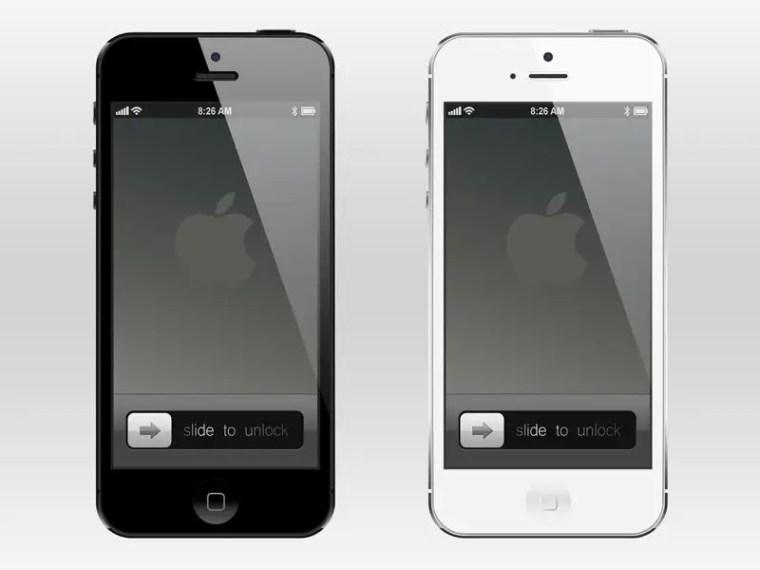 Magnífico mockup del iPhone 5 gratis