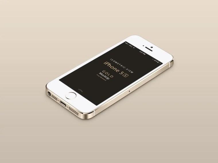 Mockups de iPhone 5S y 5C gratis