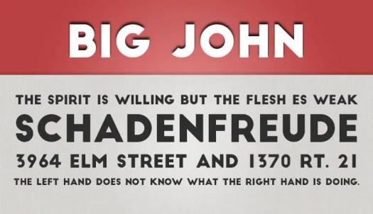 Big John fuente gratis