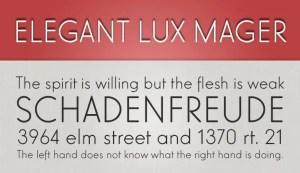 Elegant Lux Mager fuente gratis