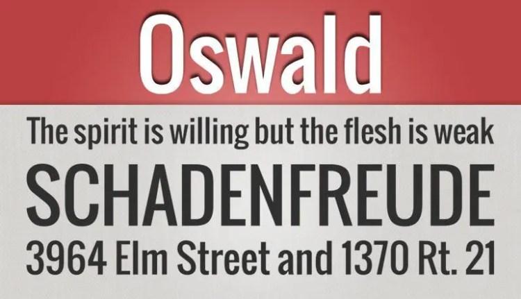 Oswald fuente gratis