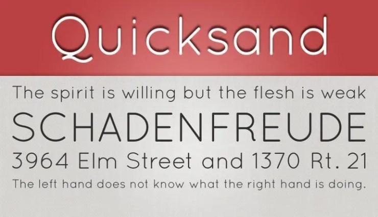 Quicksand fuente gratis