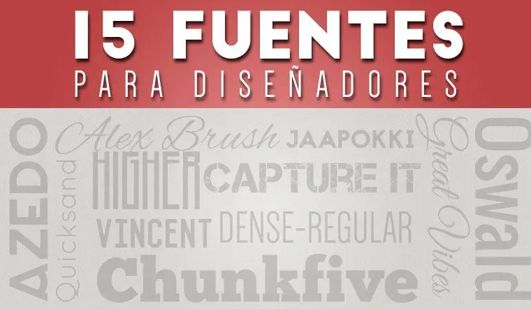15 fuentes gratis para diseñadores