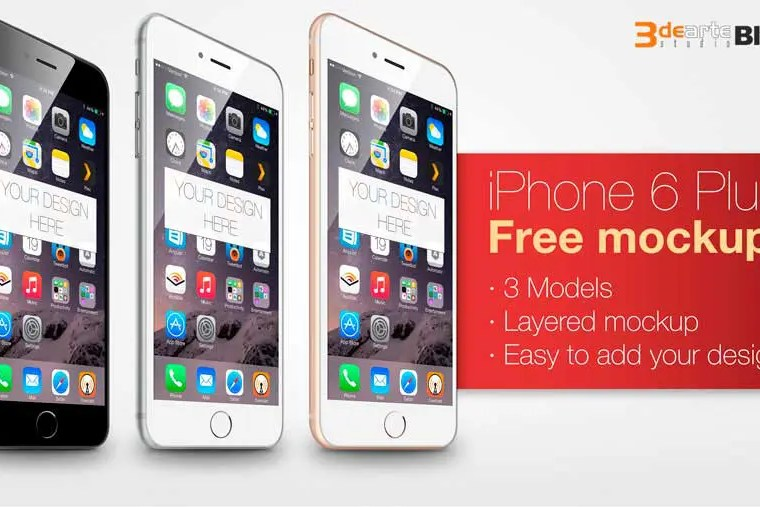 Mockup del iPhone 6 plus gratis