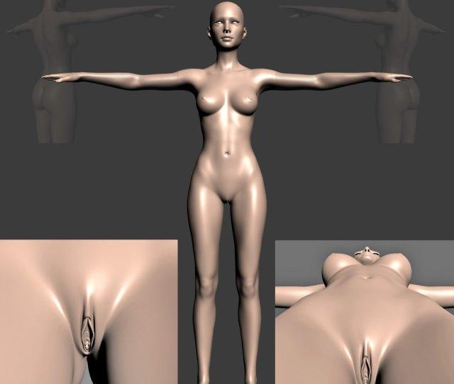 Naked Girl 3d Model