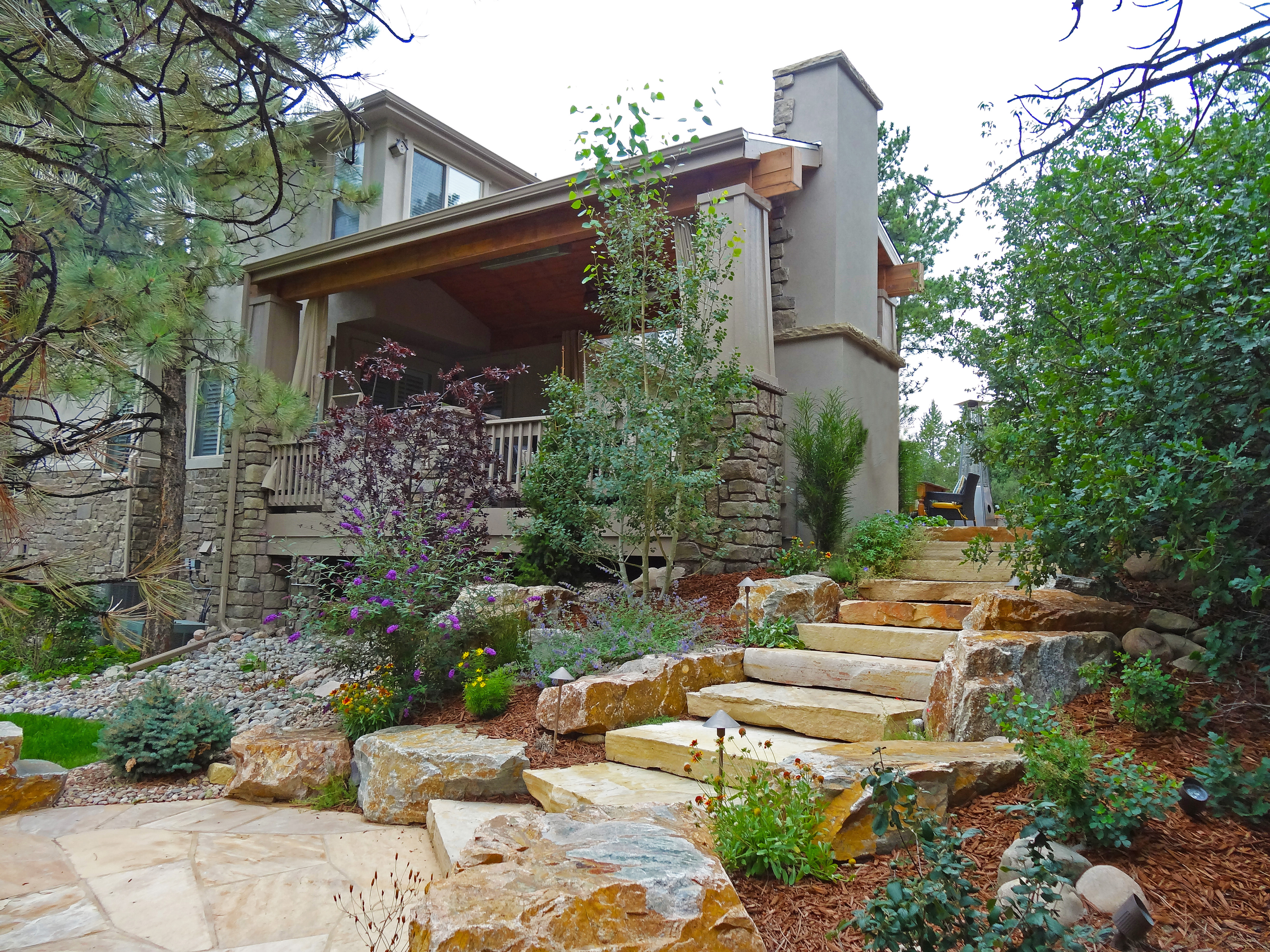 flagstone patio Archives - Landscaping in Denver on Flagstone Backyard Patio id=44253