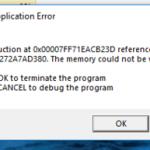 Simplify3D Application Fehler im Speicher