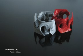 'gyroid' bracelet by parametric | art (3dprinted)