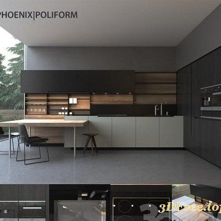 3DDD - Kitchen 3D Models Collection | 3D models blog on Modern:8-Rtxafges8= Model Kitchen  id=35799
