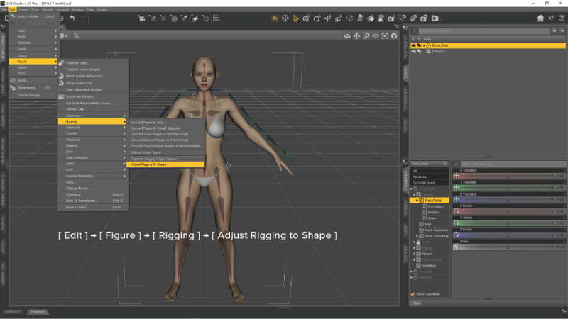 Adjust Rigging to Shape