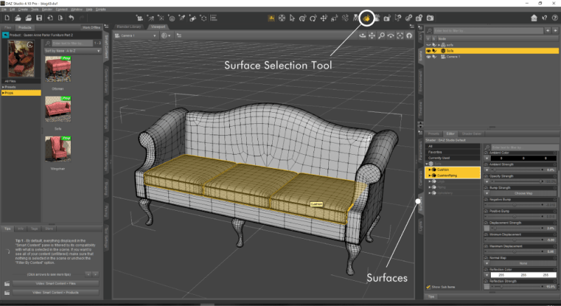 Surface Selection Tool