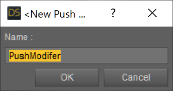 Push Modifier ウインドウ